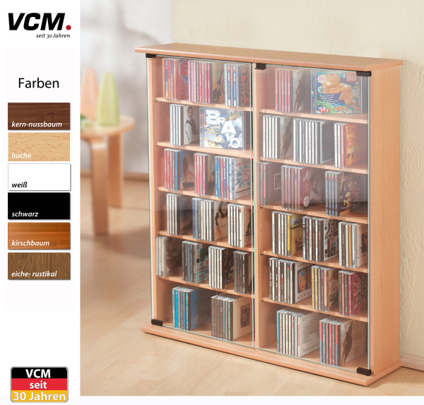 cd schrank roma sonoma eiche s gerau f r 300 cds. Black Bedroom Furniture Sets. Home Design Ideas