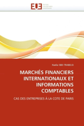 MARCHÉS FINANCIERS INTERNATIONAUX ET INFORMATIONS COMPTABLES