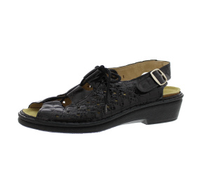 Sandalen aus Lackleder schwarz Größe 36