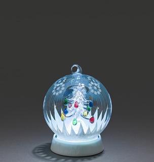 LED Schneekugel mit Weihnachtsbaum