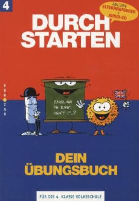 Durchstarten Englisch - Dein Übungsbuch, 4. Schulstufe, m. Audio-CD