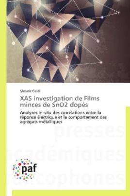 XAS investigation de Films minces de SnO2 dopés