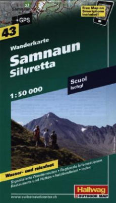Hallwag Outdoor Map Samnaun, Silvretta