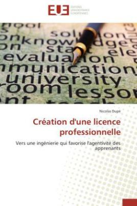 Création d'une licence professionnelle