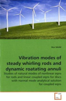 Vibration modes of steady whirling rods and dynamic roatating annuli