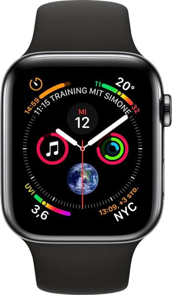 """APPLE Smart Watch """"Watch Series 4"""" (GPS + Cellular, 44mm, Edelstahlgehäuse, Schwarz)"""