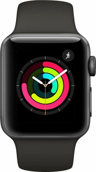 "APPLE Smart Watch ""Watch Series 3"" (GPS, 38 mm Aluminiumgehäuse, Space Gray/Anthrazit)"