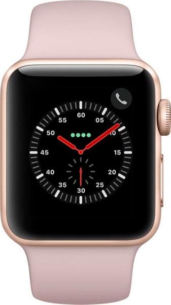 """APPLE Smart Watch """"Watch Series 3"""" (GPS, Cellular, 42 mm Edelstahlgehäuse, Space Schwarz/Schwarz)"""