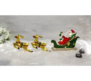 Solar Gartenstecker Weihnachtsmann auf Schlitten