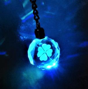 LED Schlüsselanhänger Kleeblatt
