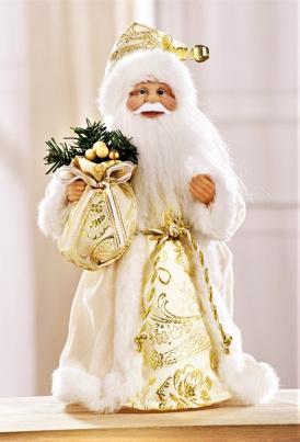 Weihnachtsmann im Goldgewand