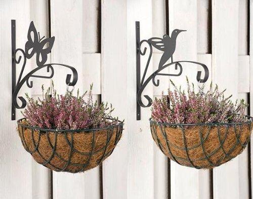 Haken Für Blumentopf 2er Set Vogel Schmetterling