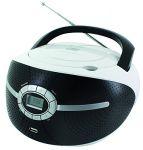 CD/MP3 Boombox mit USB und UKW Radio in weiß/schwarz