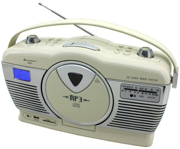 nostalgie retro vertikal radio mit cd spieler. Black Bedroom Furniture Sets. Home Design Ideas