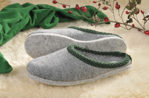 Walker-Pantoffeln mit Filz-Sohle (grau) Gr.36