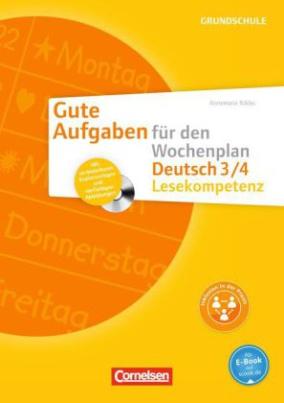 Deutsch 3/4, Lesekompetenz, m. CD-ROM