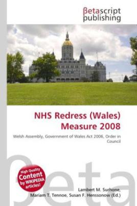 NHS Redress (Wales) Measure 2008