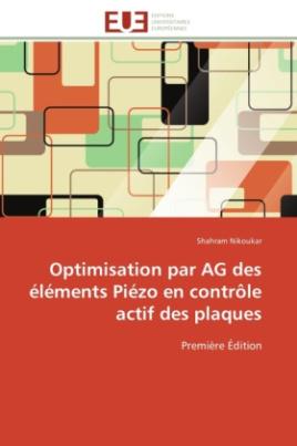 Optimisation par AG des éléments Piézo en contrôle actif des plaques