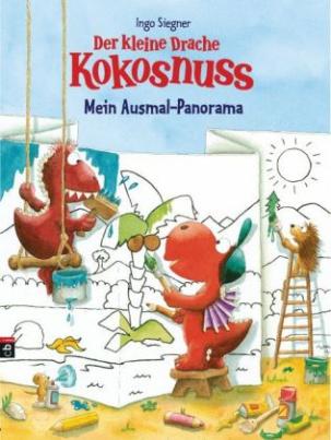 Der kleine Drache Kokosnuss - Mein Ausmal-Panorama