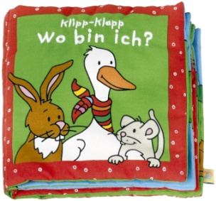 Klipp-Klapp, Wo bin ich? (grün), Stoffbilderbuch