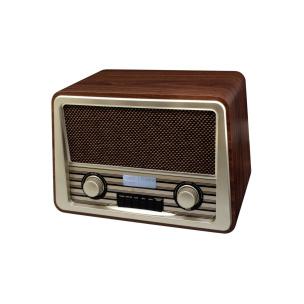 Nostalgie-DAB-Radio mit RDS, Uhr und Festsenderspeicher in Dunkelbraun