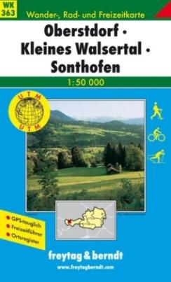 Freytag & Berndt Wander-, Rad- und Freizeitkarte Oberstdorf, Kleines Walsertal, Sonthofen