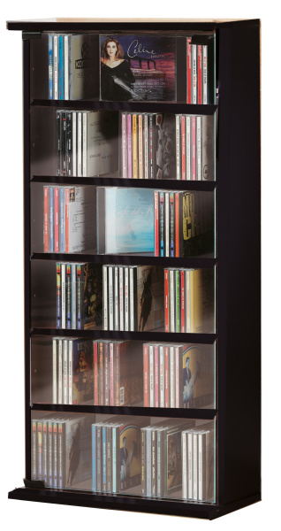 cd schrank vetro schwarz f r 150 cds. Black Bedroom Furniture Sets. Home Design Ideas